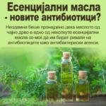 Есенцијални масла - новите антибиотоци