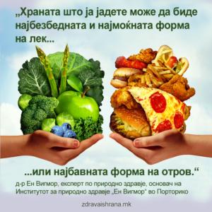 Храната е или лек или отров