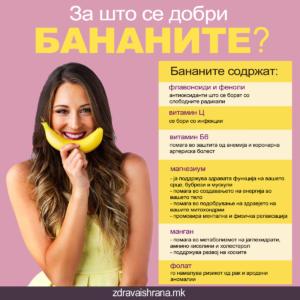 За што се добри бананите?